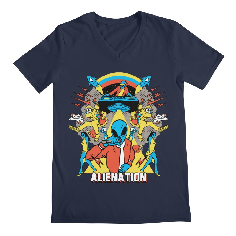 Alienation Men's Regular V-Neck by RJ Artworks's Artist Shop