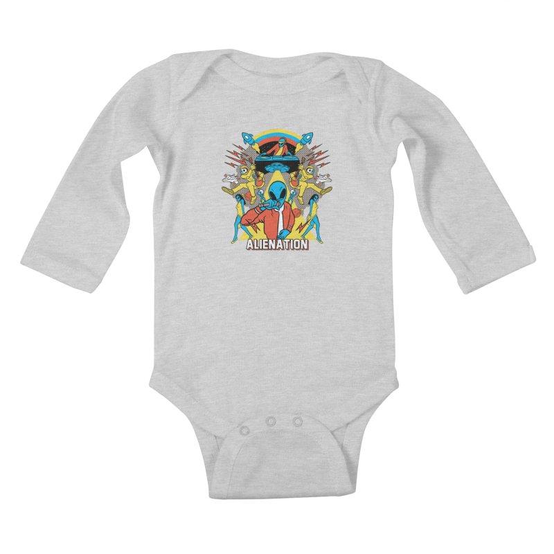 Alienation Kids Baby Longsleeve Bodysuit by RJ Artworks's Artist Shop