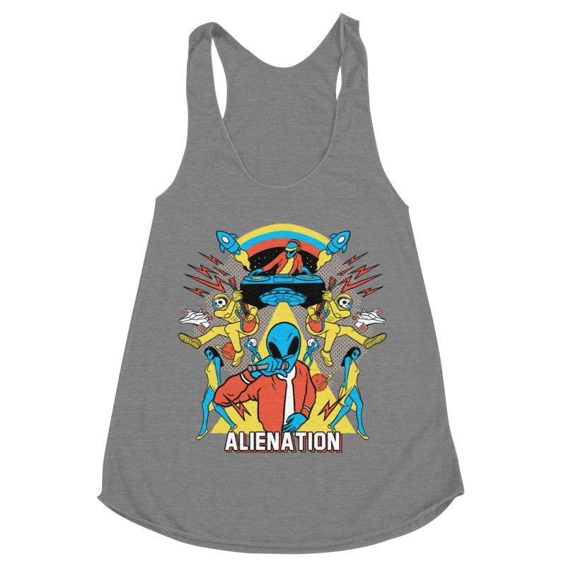 Alienation Women's Racerback Triblend Tank by RJ Artworks's Artist Shop