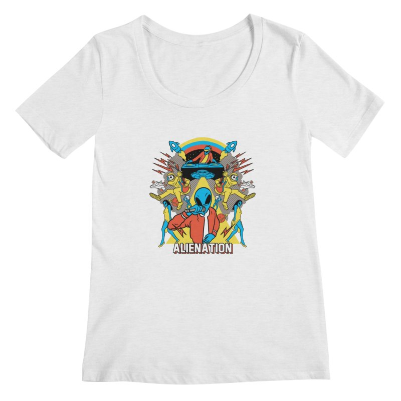 Alienation Women's Regular Scoop Neck by RJ Artworks's Artist Shop