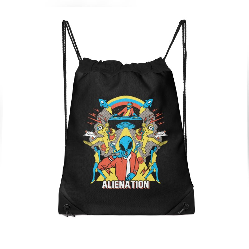 Alienation Accessories Drawstring Bag Bag by RJ Artworks's Artist Shop