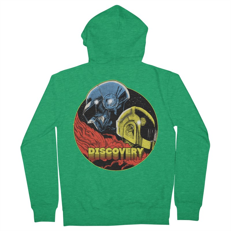 Discovery Men's French Terry Zip-Up Hoody by RJ Artworks's Artist Shop