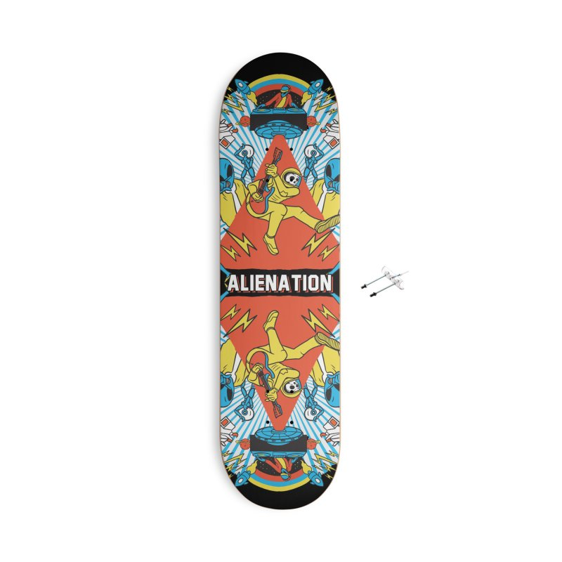 Alienation Accessories With Hanging Hardware Skateboard by RJ Artworks's Artist Shop