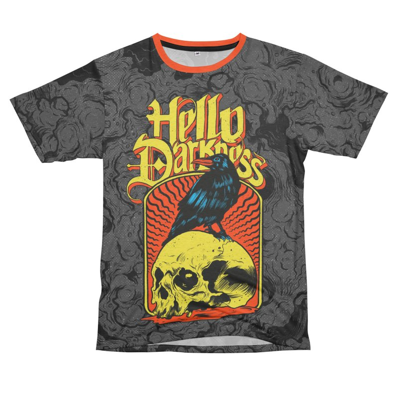 Hello Darkness Men's French Terry T-Shirt Cut & Sew by RJ Artworks's Artist Shop