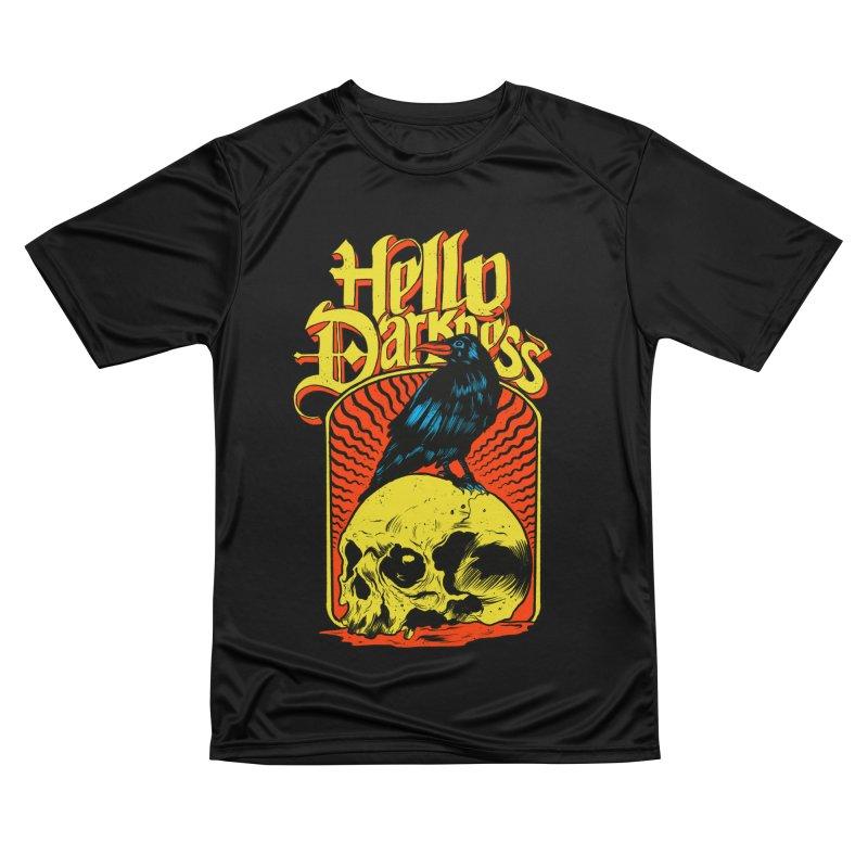 Hello Darkness Men's Performance T-Shirt by RJ Artworks's Artist Shop
