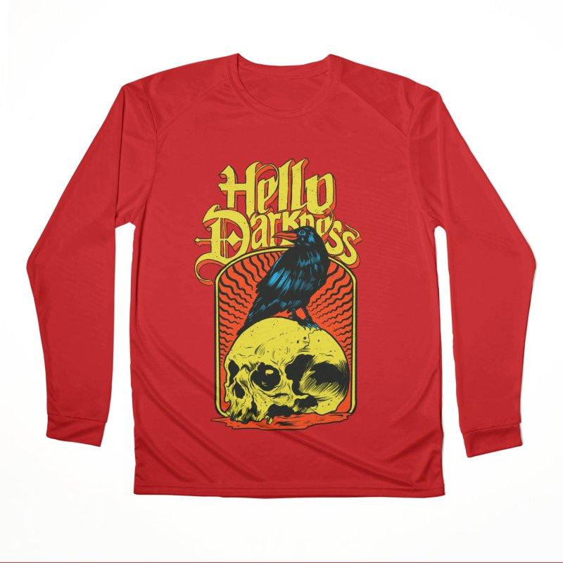 Hello Darkness Women's Performance Unisex Longsleeve T-Shirt by RJ Artworks's Artist Shop
