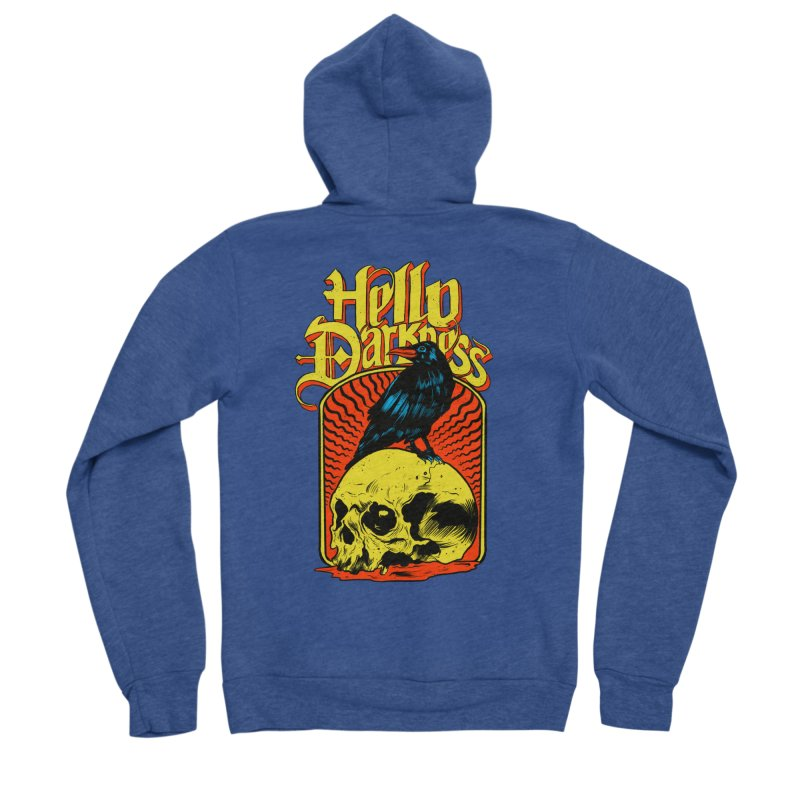 Hello Darkness Women's Sponge Fleece Zip-Up Hoody by RJ Artworks's Artist Shop