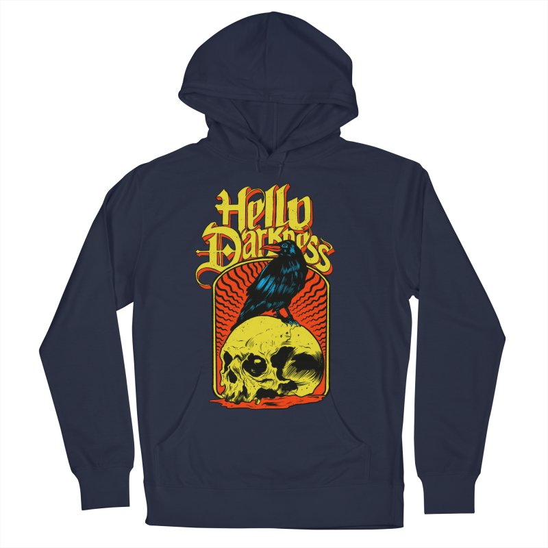 Hello Darkness Women's French Terry Pullover Hoody by RJ Artworks's Artist Shop