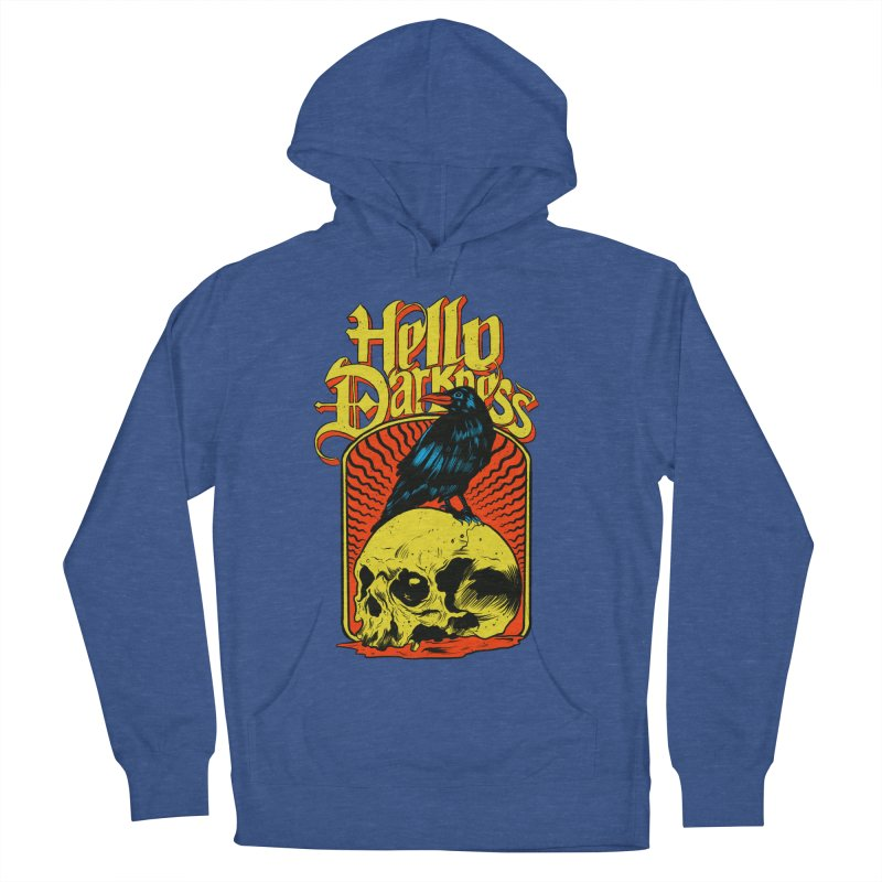 Hello Darkness Men's French Terry Pullover Hoody by RJ Artworks's Artist Shop