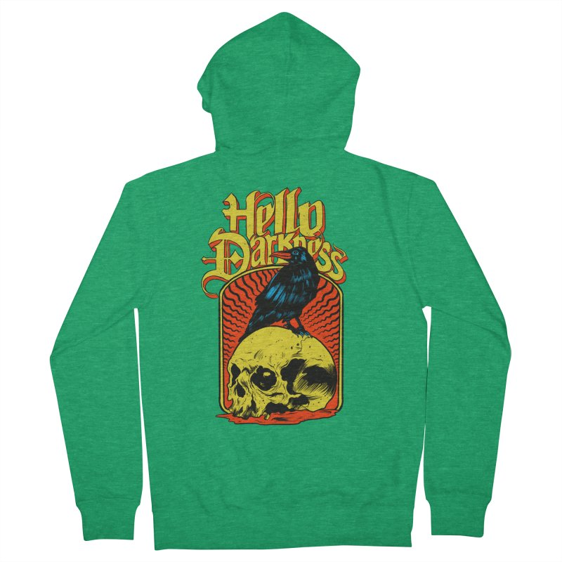 Hello Darkness Women's French Terry Zip-Up Hoody by RJ Artworks's Artist Shop
