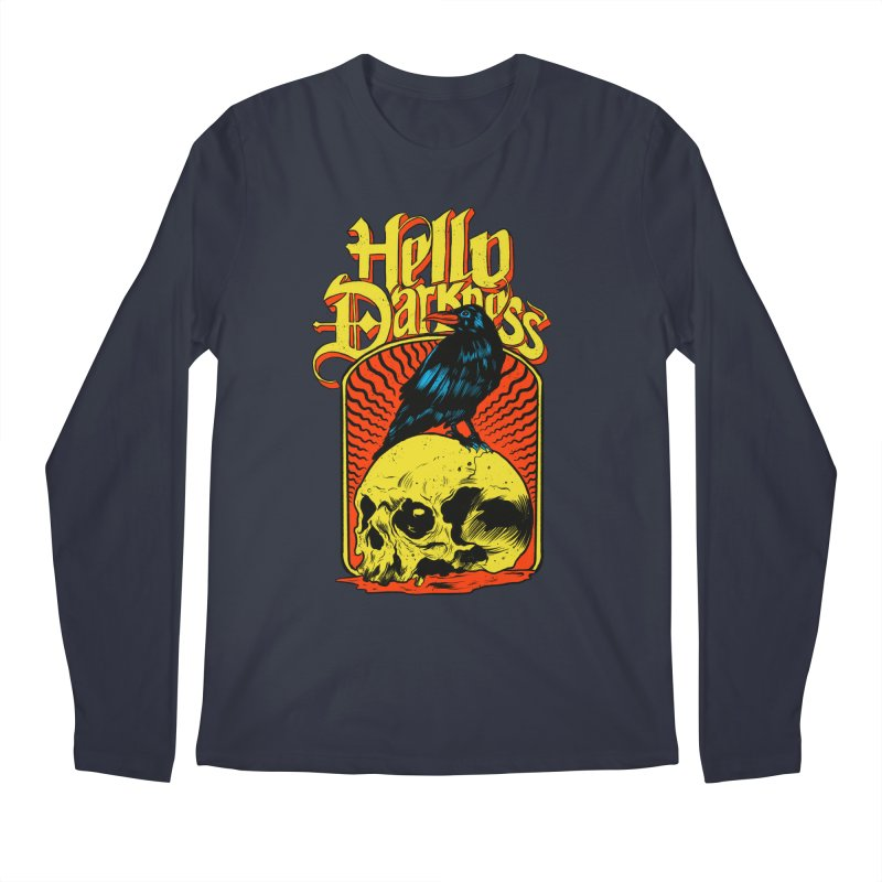 Hello Darkness Men's Regular Longsleeve T-Shirt by RJ Artworks's Artist Shop