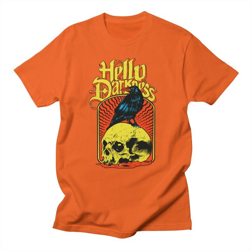 Hello Darkness Men's Regular T-Shirt by RJ Artworks's Artist Shop
