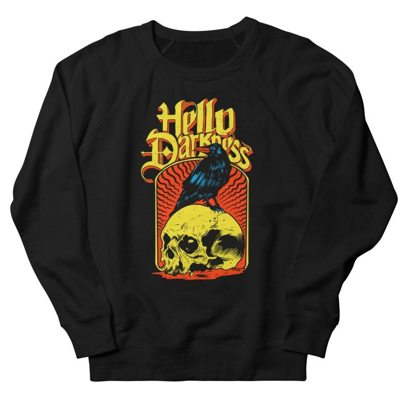 Hello Darkness Men's French Terry Sweatshirt by RJ Artworks's Artist Shop