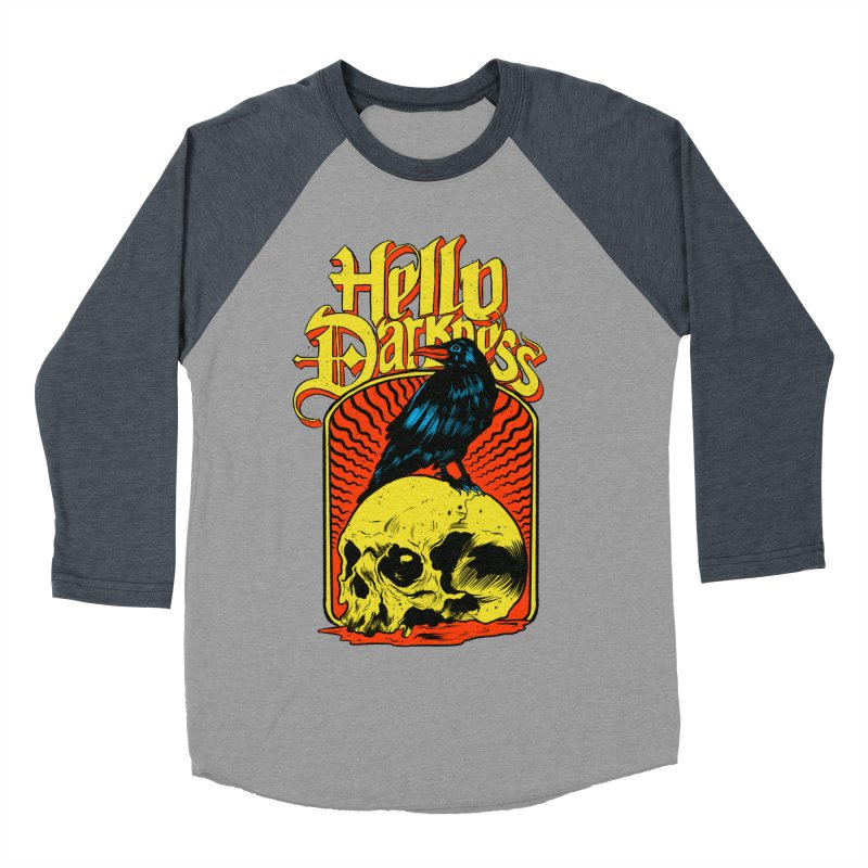 Hello Darkness Men's Baseball Triblend Longsleeve T-Shirt by RJ Artworks's Artist Shop