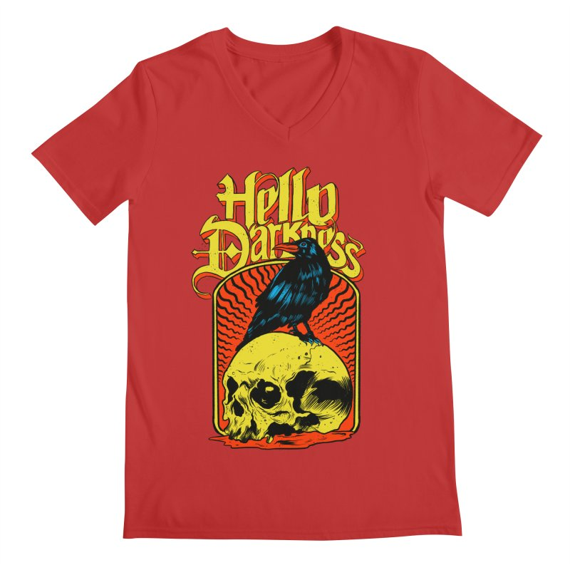 Hello Darkness Men's Regular V-Neck by RJ Artworks's Artist Shop