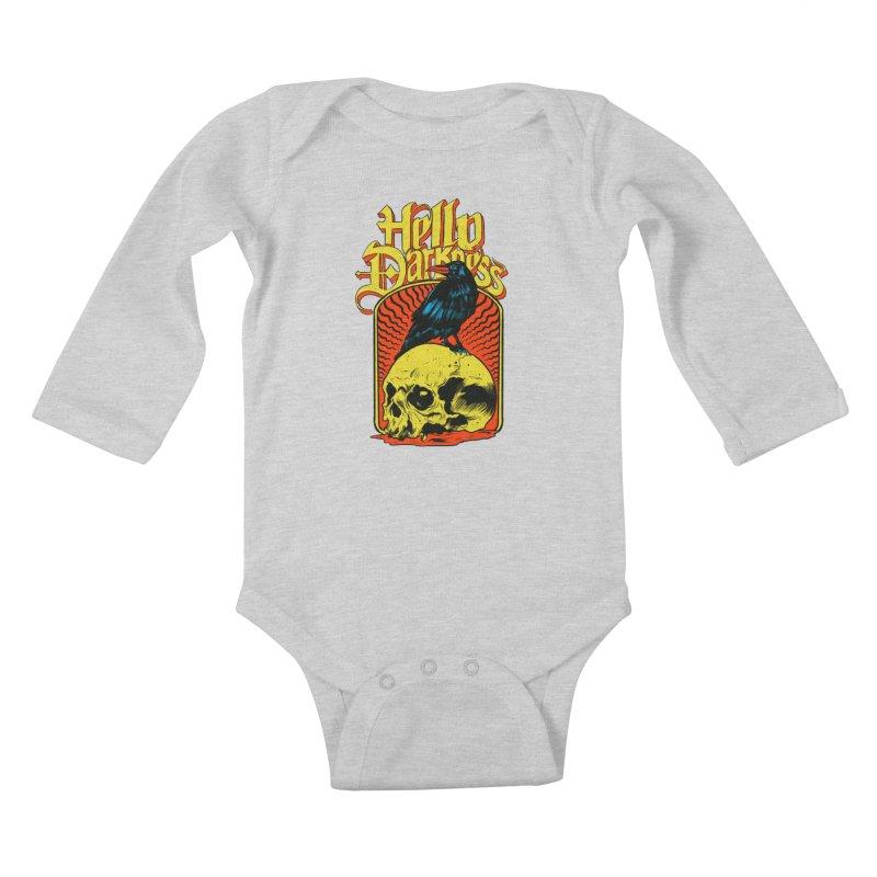 Hello Darkness Kids Baby Longsleeve Bodysuit by RJ Artworks's Artist Shop