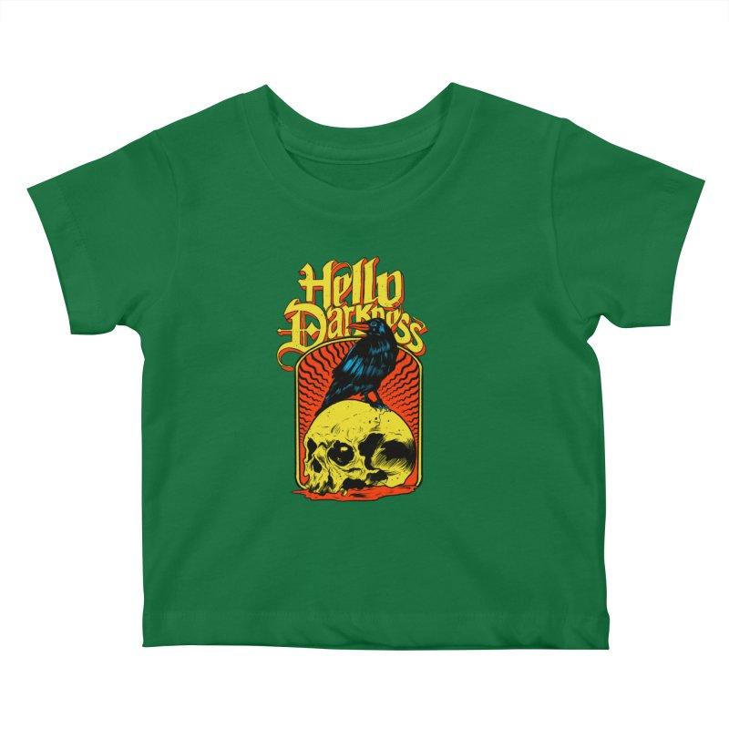 Hello Darkness Kids Baby T-Shirt by RJ Artworks's Artist Shop