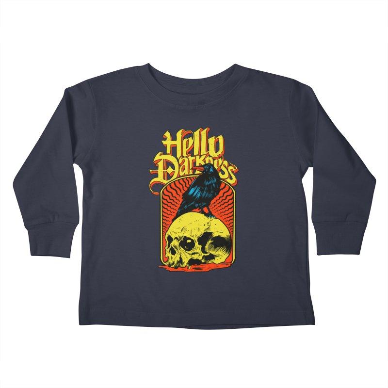 Hello Darkness Kids Toddler Longsleeve T-Shirt by RJ Artworks's Artist Shop