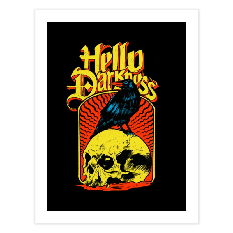 Hello Darkness Home Fine Art Print by RJ Artworks's Artist Shop