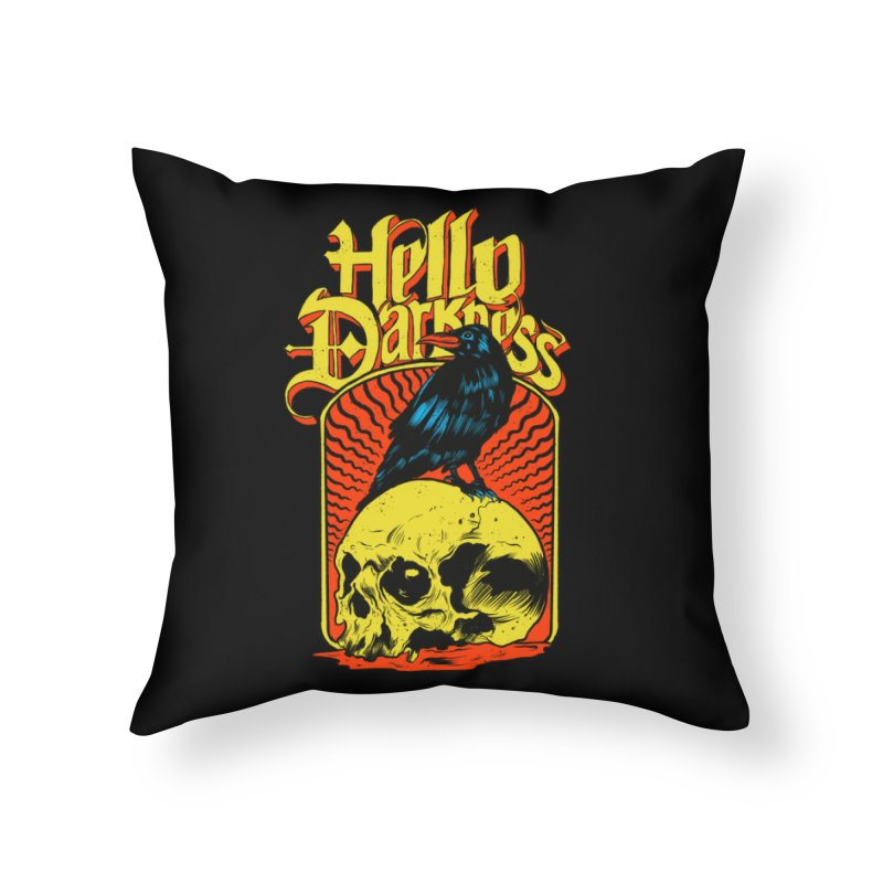 Hello Darkness Home Throw Pillow by RJ Artworks's Artist Shop