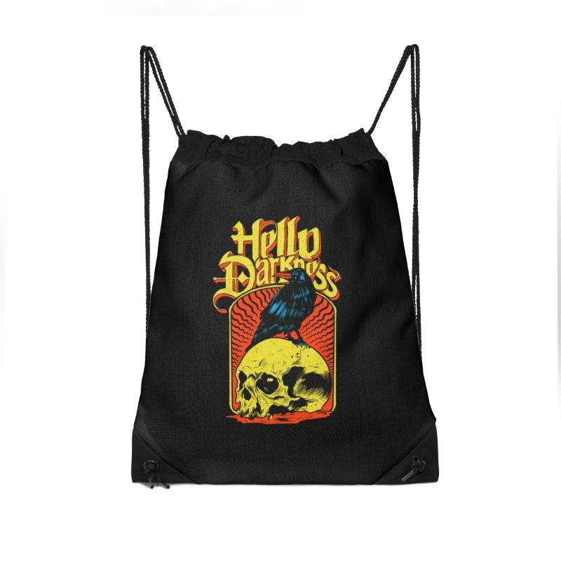 Hello Darkness Accessories Drawstring Bag Bag by RJ Artworks's Artist Shop