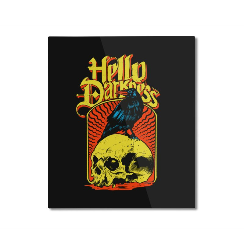 Hello Darkness Home Mounted Aluminum Print by RJ Artworks's Artist Shop