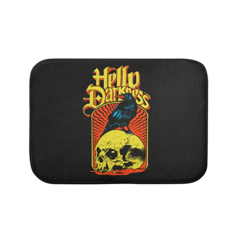 Hello Darkness Home Bath Mat by RJ Artworks's Artist Shop