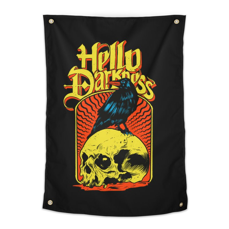 Hello Darkness Home Tapestry by RJ Artworks's Artist Shop