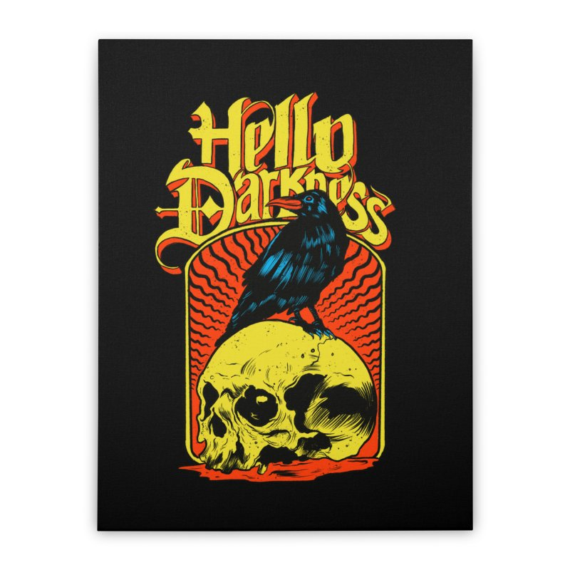 Hello Darkness Home Stretched Canvas by RJ Artworks's Artist Shop