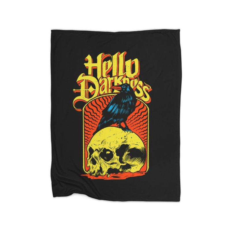 Hello Darkness Home Fleece Blanket Blanket by RJ Artworks's Artist Shop