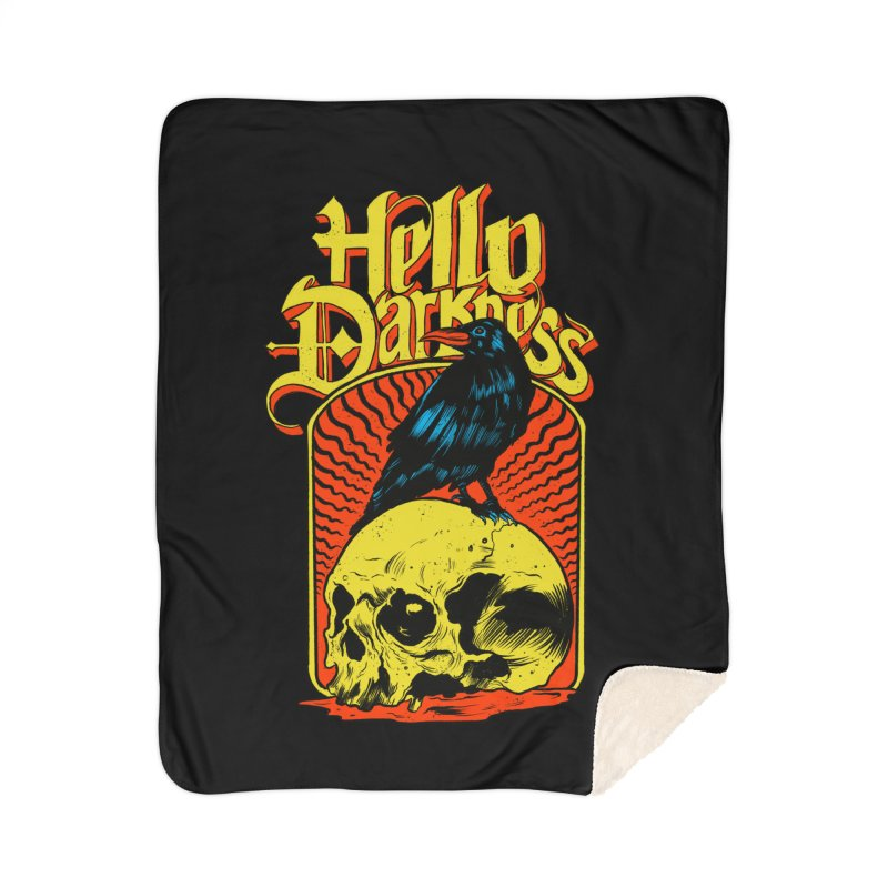 Hello Darkness Home Sherpa Blanket Blanket by RJ Artworks's Artist Shop