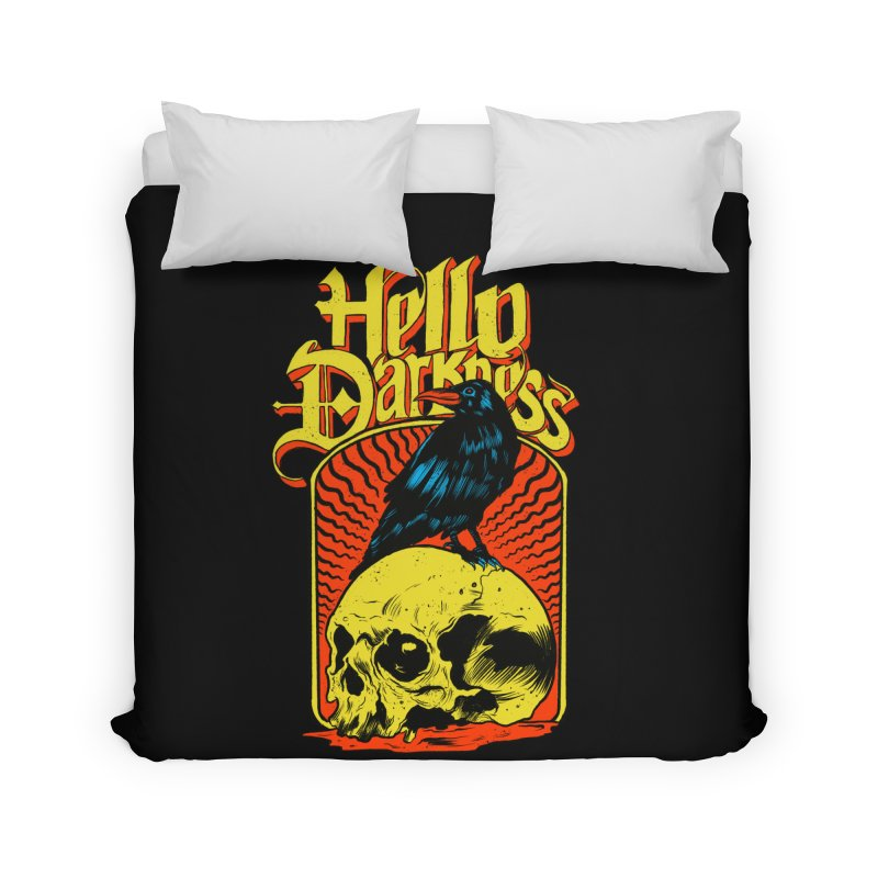 Hello Darkness Home Duvet by RJ Artworks's Artist Shop