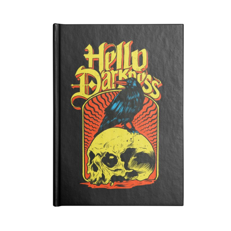 Hello Darkness Accessories Lined Journal Notebook by RJ Artworks's Artist Shop