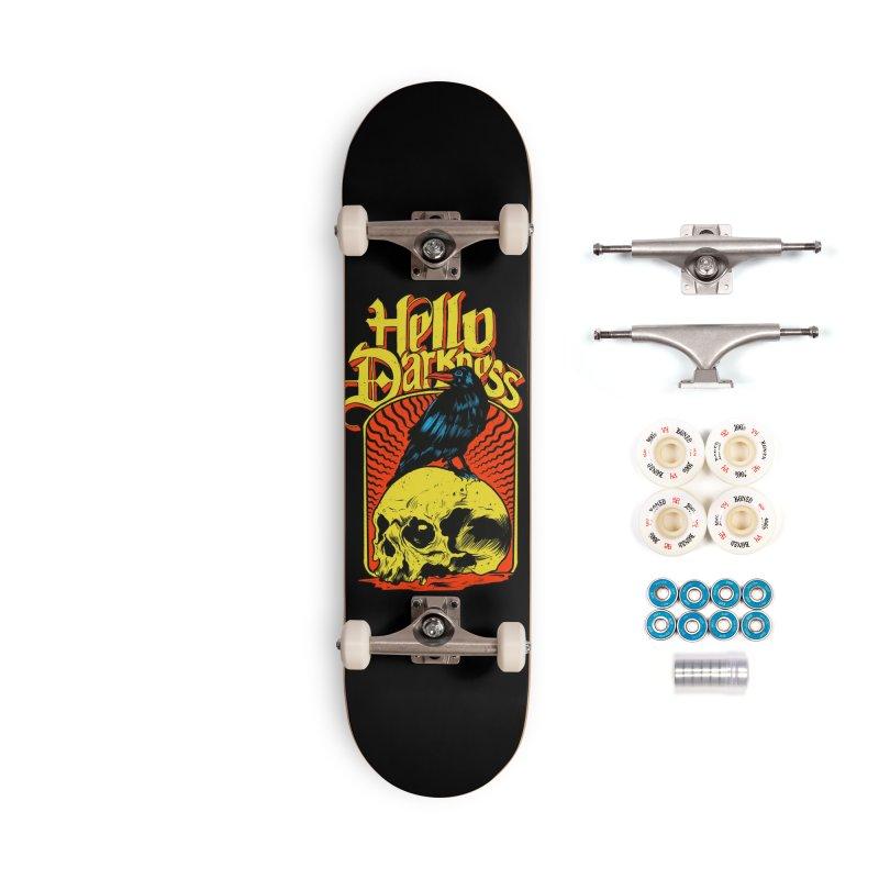 Hello Darkness Accessories Complete - Premium Skateboard by RJ Artworks's Artist Shop