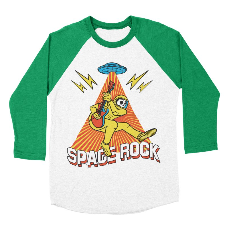 Space Rock Men's Baseball Triblend Longsleeve T-Shirt by RJ Artworks's Artist Shop