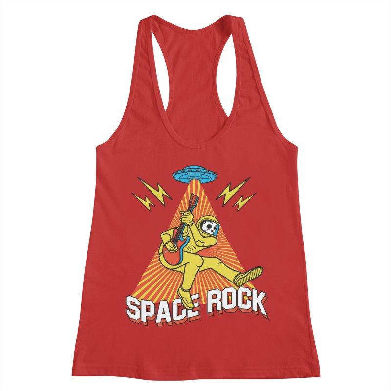 Space Rock Women's Racerback Tank by RJ Artworks's Artist Shop