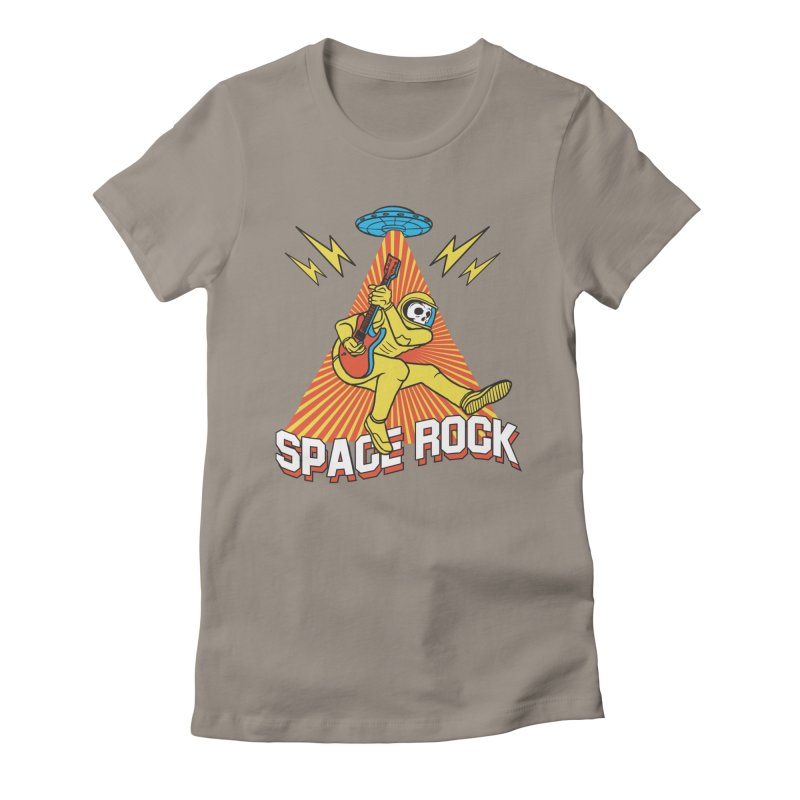 Space Rock Women's Fitted T-Shirt by RJ Artworks's Artist Shop