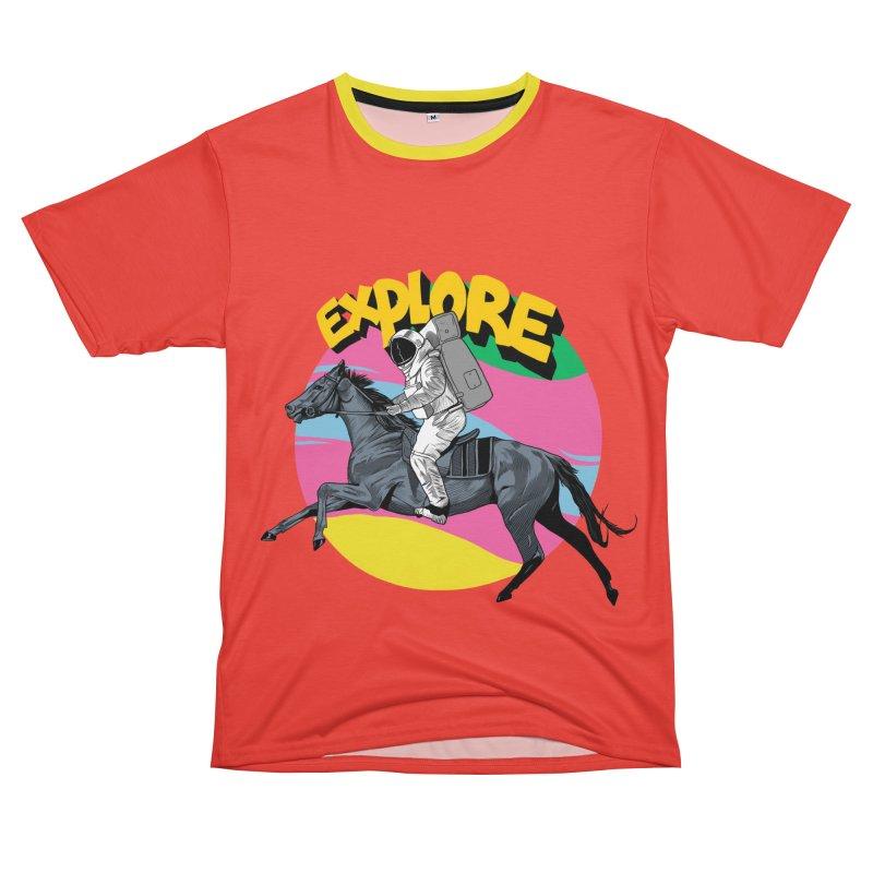 Space Rider Men's T-Shirt Cut & Sew by RJ Artworks's Artist Shop