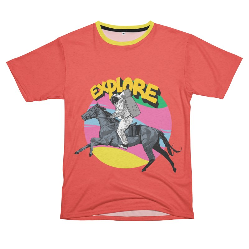 Space Rider Women's Unisex French Terry T-Shirt Cut & Sew by RJ Artworks's Artist Shop