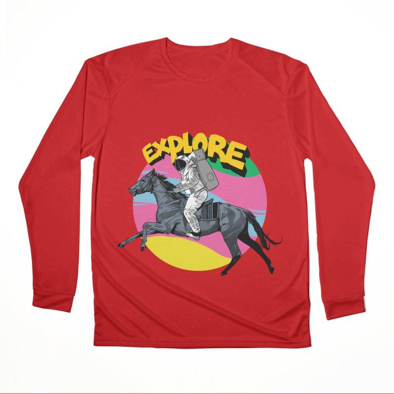Space Rider Women's Performance Unisex Longsleeve T-Shirt by RJ Artworks's Artist Shop