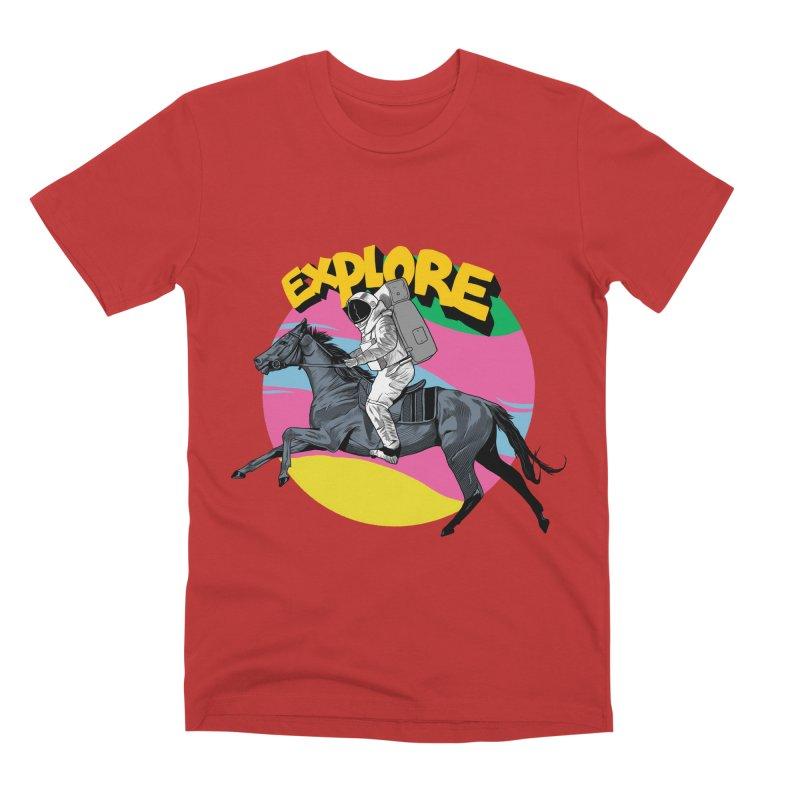 Space Rider Men's Premium T-Shirt by RJ Artworks's Artist Shop