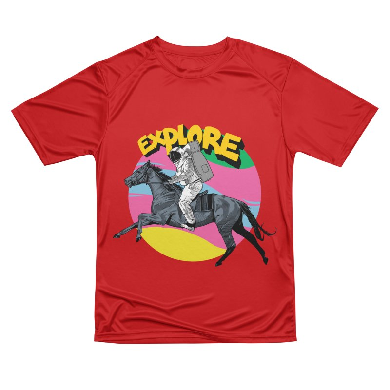 Space Rider Men's Performance T-Shirt by RJ Artworks's Artist Shop