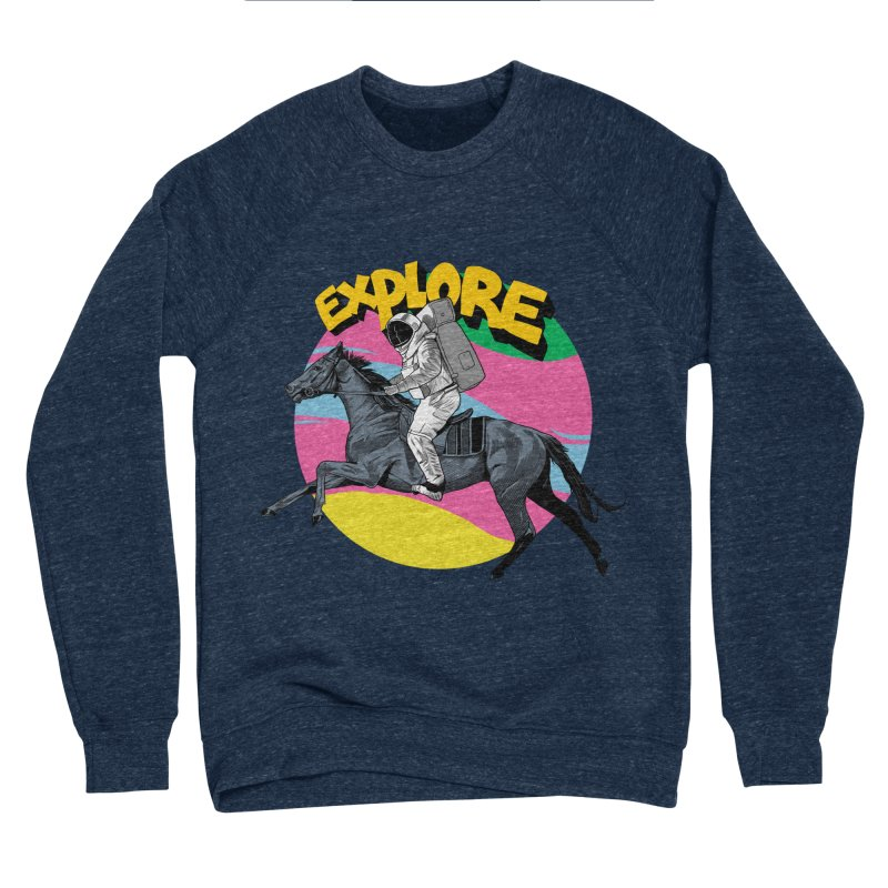 Space Rider Men's Sponge Fleece Sweatshirt by RJ Artworks's Artist Shop