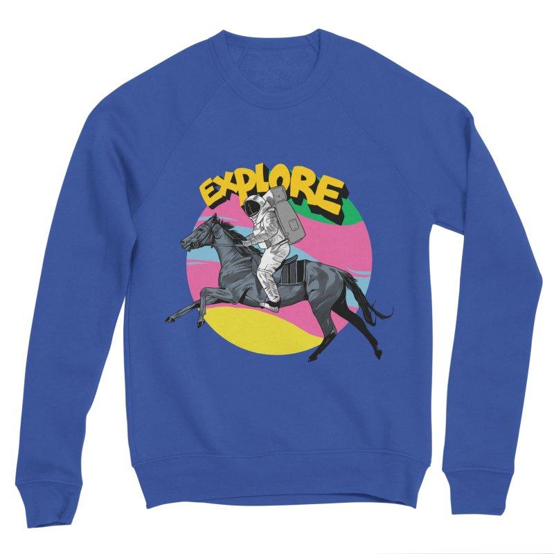 Space Rider Women's Sponge Fleece Sweatshirt by RJ Artworks's Artist Shop