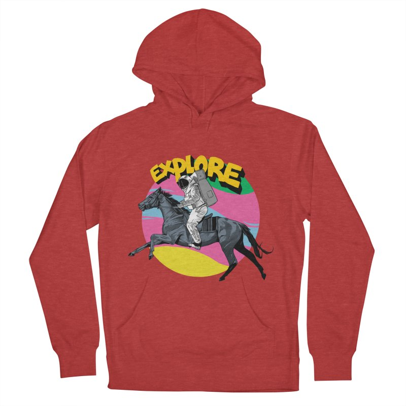 Space Rider Women's French Terry Pullover Hoody by RJ Artworks's Artist Shop