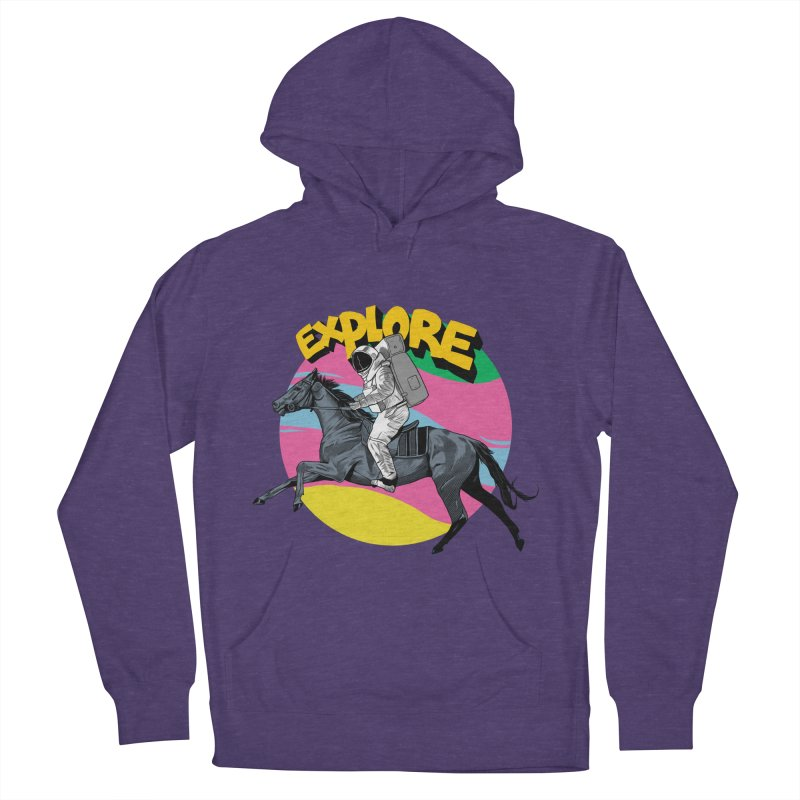 Space Rider Men's French Terry Pullover Hoody by RJ Artworks's Artist Shop