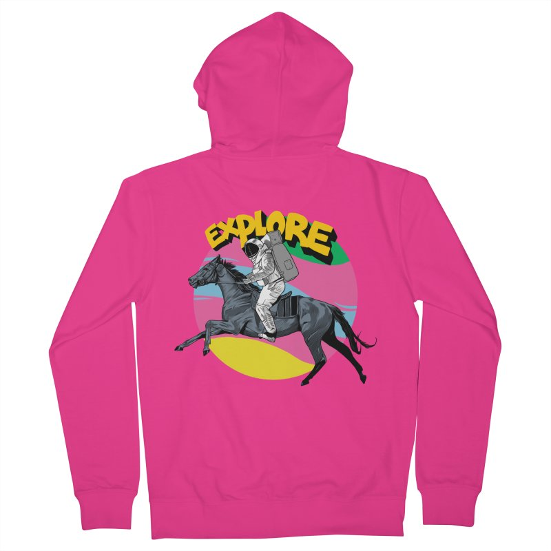 Space Rider Men's French Terry Zip-Up Hoody by RJ Artworks's Artist Shop