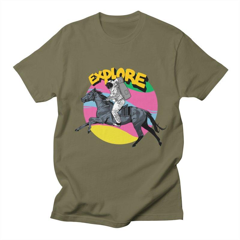 Space Rider Men's Regular T-Shirt by RJ Artworks's Artist Shop