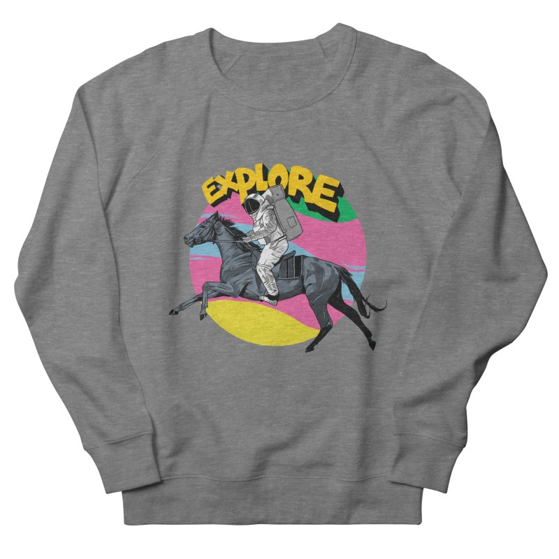 Space Rider Women's French Terry Sweatshirt by RJ Artworks's Artist Shop