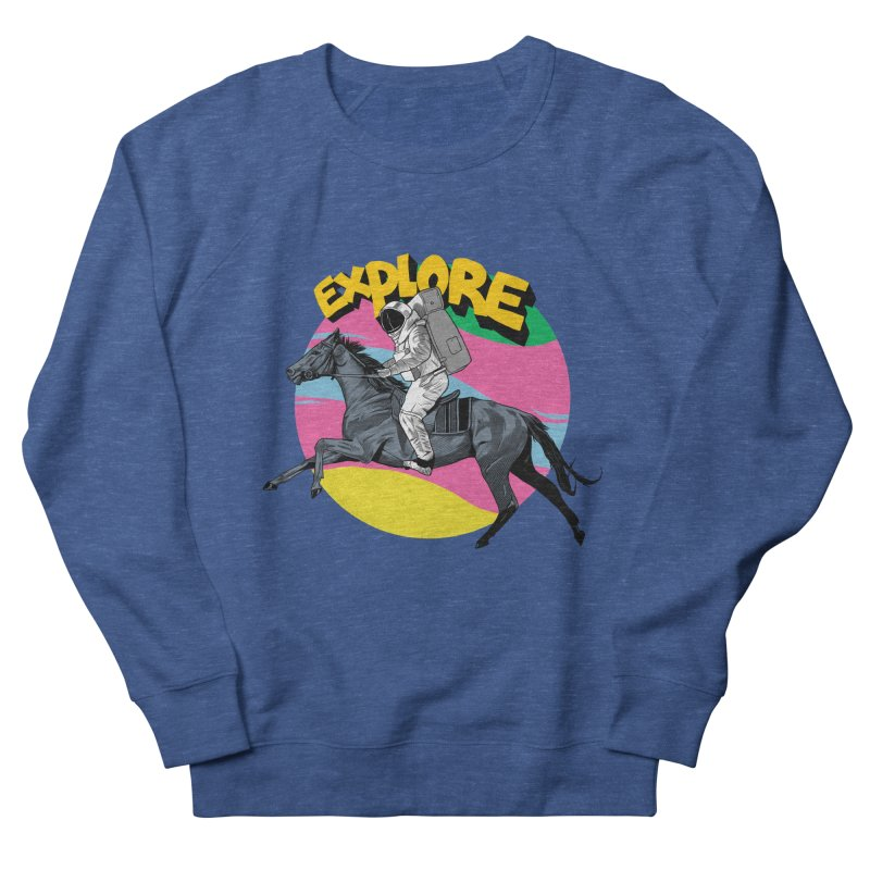 Space Rider Men's French Terry Sweatshirt by RJ Artworks's Artist Shop